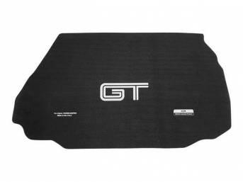 Trunk Mat, Fender Gripper, Black, Features *Gt* Logo