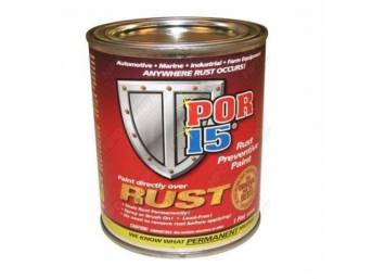 POR-15 Rust Preventive Coating, Clear Gloss, pint, Most