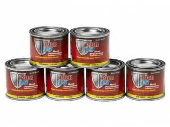 POR-15 Rust Preventive Coating, Gloss Black, six-pack of