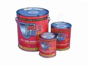 POR-15 Rust Preventive Coating, Semi Flat Black, quart,