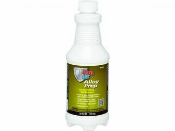 AP-120 METAL PREP, POR-15, 20 ounce bottle, used to achieve the ultimate clear finish on polished metal, specially formulated to be used w/ POR 2K Urethane clear (p/n POR-TUCG / POR-TUCQ), preps alloy and brass pieces for a clean metal look