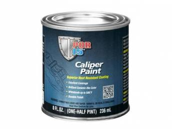 CALIPER PAINT, POR-15, Red, half-pint (8 ounce) can, change the look of dirty or corroded calipers with a super-tough durable finish thats strong enough to withstand the punishment of road debris and temperature extremes