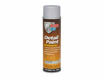 DETAIL PAINT, POR-15, Cast Aluminum, 15 ounce aerosol spray can, provides professional grade finish that reproduces the original look of cast parts, perfect for water pumps, intake manifolds, and master cylinders. Designed to protect against rust, has a l