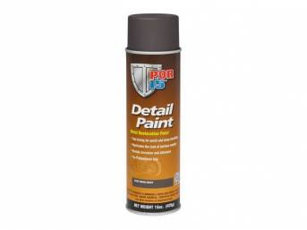 DETAIL PAINT, POR-15, Cast Iron, 15 ounce aerosol spray can, provides professional grade finish that reproduces the original look of cast parts, perfect for water pumps, intake manifolds, and master cylinders. Designed to protect against rust, has a low s