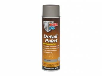 DETAIL PAINT, POR-15, Stainless Steel, 16 ounce aerosol spray can, provides professional grade finish that reproduces the original look of cast parts, perfect for water pumps, intake manifolds, and master cylinders. Designed to protect against rust, has a