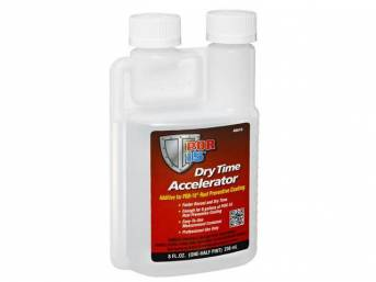 DRY TIME ACCELERATOR, POR-15, Half pint (8 ounce) bottle (treats up to 8 gallons of POR-15), use as part of step 3 of the 3-step Rust Prevention System, an additive specially formulated to accelerate the cure time of POR-15 by 30-50 percent w/o affecting