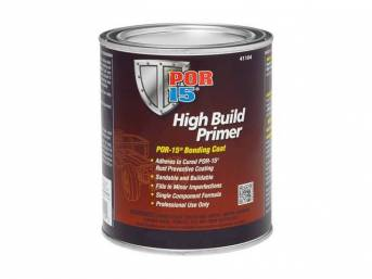 HIGH BUILD PRIMER, POR-15, pint, can be used over POR 15 Coating when another paint color or type or paint is desired, buildable and sandable and easy to apply w/ great interlocking adhesion qualities and very little preparation is necessary to get a top-