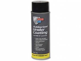 RUBBERIZED UNDER COATING, POR-15, Black, 17 ounce aerosol