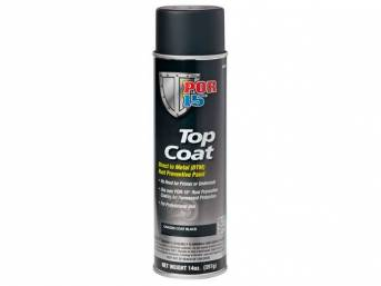 TOP COAT, POR-15, Chassis Black, 15 ounce aerosol