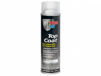 TOP COAT, POR-15, Gloss Clear, 15 ounce aerosol