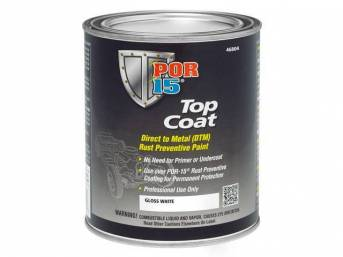 TOP COAT, POR-15, Gloss White, gallon, Top Coat