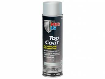TOP COAT, POR-15, Primer Flat Gray, 14 ounce