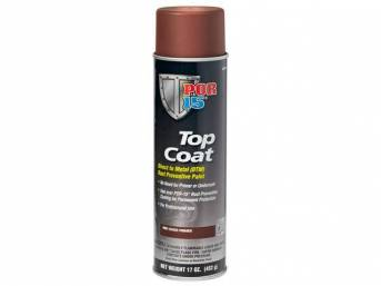 TOP COAT, POR-15, Red Oxide, 16 ounce aerosol