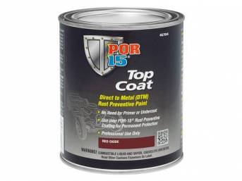 TOP COAT, POR-15, Red Oxide, gallon, Top Coat