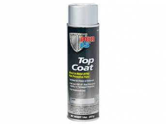 TOP COAT, POR-15, Silver, 15 ounce aerosol spray