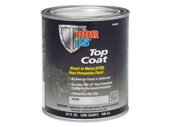 TOP COAT, POR-15, Silver, quart, Top Coat is