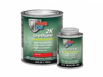 2K URETHANE, POR-15, Safety Red, quart, a tough,