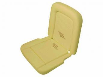 SEAT FOAM, BUCKET SEAT BACK AND BOTTOM SET,