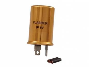 FLASHER, TURN SIGNAL, 6V
