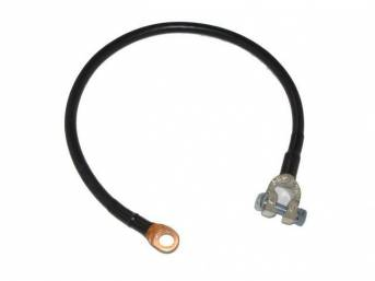 BATTERY POSITIVE CABLE, repro, black sheathed cable, brass