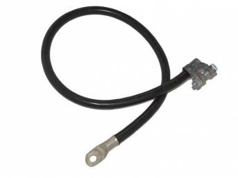 BATTERY GROUND CABLE, repro, black sheathed heavy gauge