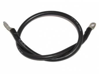 STARTER CABLE, repro, black sheathed heavy gauge cable,