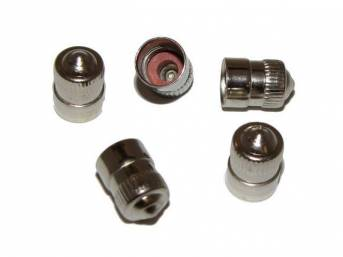 CAP SET, Tire Valve, nickel on brass, concours