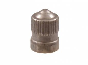 CAP, Tire Valve, each, stainless steel with internal
