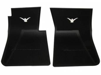 FLOOR MATS, BLACK RUBBER
