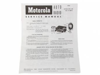 MANUAL, 1955 RADIO