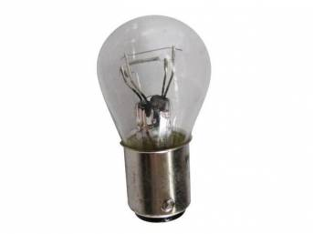 BULB, CLEAR, DUAL CONTACT, 3 CANDLEPOWER RUNNING &