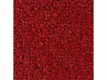 CARPET, Raylon Weave, red, mass backed, This carpet