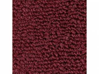 CARPET, Raylon Weave, maroon, mass backed, This carpet