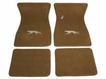 FLOOR MATS, Carpet, raylon weave, medium saddle, Cougar