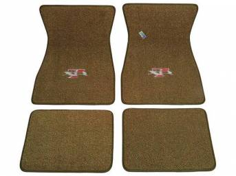 FLOOR MATS, Carpet, raylon weave, medium saddle, XR-7