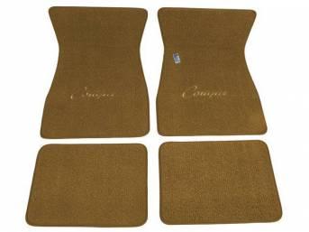 FLOOR MATS, Carpet, raylon weave, medium saddle, *Cougar*