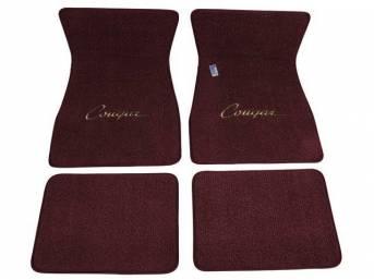 FLOOR MATS, Carpet, raylon weave, ivy gold, *Cougar*