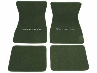 FLOOR MATS, Carpet, raylon weave, medium green, Cat