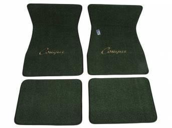 FLOOR MATS, Carpet, raylon weave, medium green, *Cougar*