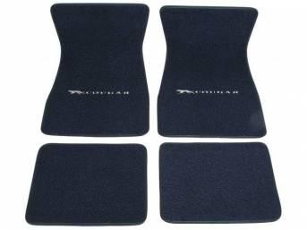 FLOOR MATS, Carpet, raylon weave, medium blue, Cat
