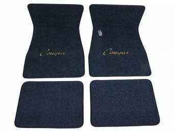 FLOOR MATS, Carpet, raylon weave, medium blue, *Cougar*