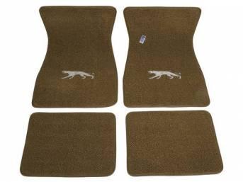 FLOOR MATS, Carpet, raylon weave, medium ginger, Cougar