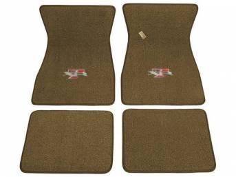FLOOR MATS, Carpet, raylon weave, medium ginger, XR-7
