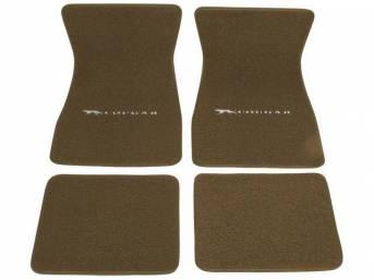 FLOOR MATS, Carpet, raylon weave, medium ginger, Cat
