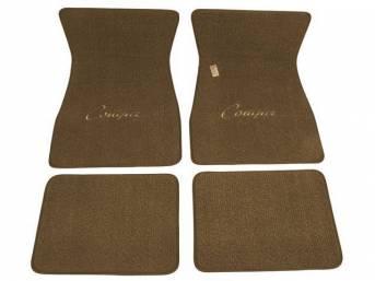 FLOOR MATS, Carpet, raylon weave, medium ginger, *Cougar*
