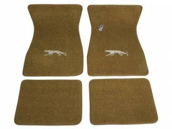 FLOOR MATS, Carpet, raylon weave, parchment, Cougar cat
