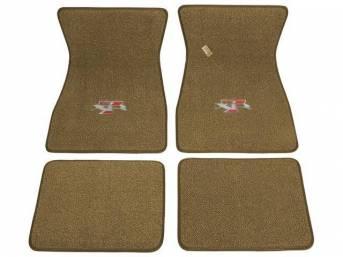 FLOOR MATS, Carpet, raylon weave, parchment, XR-7 logo