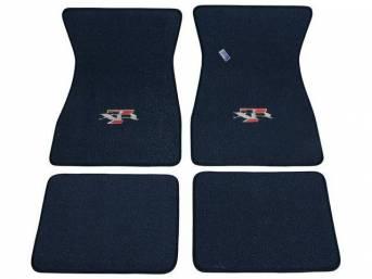 FLOOR MATS, Carpet, raylon weave, dark blue, XR-7