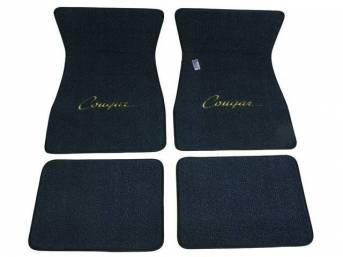 FLOOR MATS, Carpet, raylon weave, dark blue, *Cougar*