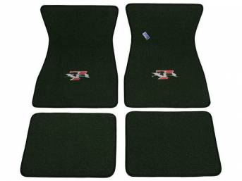 FLOOR MATS, Carpet, raylon weave, medium green, XR-7